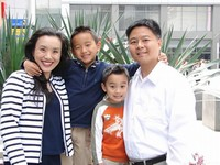 Image of Sen. Lieu and family